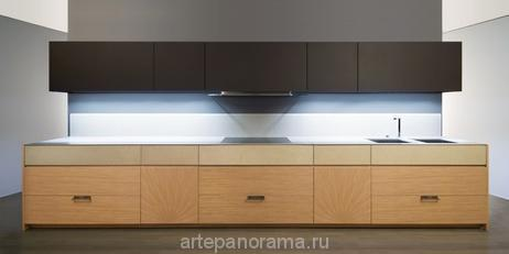 Кухня ABC CUCINE MORE&MORE отделка Wood and Leather